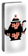 Hibiscus Pattern Teapot Portable Battery Charger