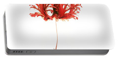 Hibiscus Schizopetalus On White Portable Battery Charger
