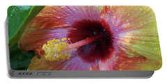 Hibiscus Portable Battery Charger by Suhas Tavkar