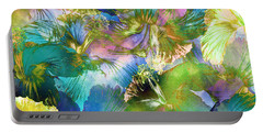 Portable Battery Charger featuring the digital art Hibiscus Trumpets by Klara Acel