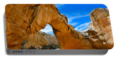 Portable Battery Charger featuring the photograph Hickman Bridge Natural Arch - Capitol Reef National Park by Dany Lison