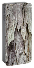 Portable Battery Charger featuring the photograph Hickory Tree Bark Abstract by Christina Rollo