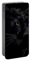 Portable Battery Charger featuring the digital art Hidden Cat by Darren Cannell
