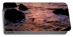 Hidden Cove Sunset Redwood National Park Portable Battery Charger by Ed  Riche