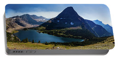 Portable Battery Charger featuring the photograph Hidden Lake Panorama At Glacier National Park by Lon Dittrick