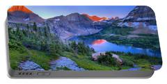 Hidden Lake Sunset Landscape Portable Battery Charger