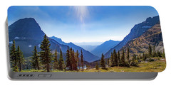 Portable Battery Charger featuring the photograph Hidden Lake Valley Glacier National Park by Lon Dittrick