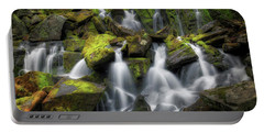 Portable Battery Charger featuring the photograph Hidden Mossy Falls by Bill Wakeley