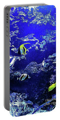Hiding Fish Portable Battery Charger by Joan  Minchak