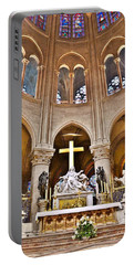 High Alter Notre Dame Cathedral Paris France Portable Battery Charger