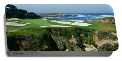High Angle View Of A Golf Course Portable Battery Charger