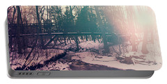 Portable Battery Charger featuring the photograph High Cliff Bridge by Joel Witmeyer