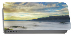 High Clouds Above Fog Portable Battery Charger