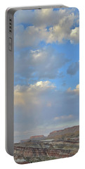High Clouds Over Caineville Wash Portable Battery Charger