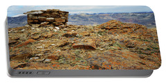 High Desert Cairn Portable Battery Charger by Eric Nielsen