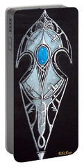 High Elven Warrior Shield  Portable Battery Charger
