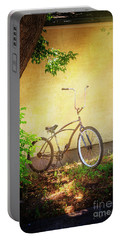 Portable Battery Charger featuring the photograph High Handle-bar Bicycle by Craig J Satterlee