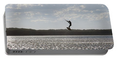 Portable Battery Charger featuring the photograph High Jump  by Miroslava Jurcik