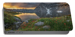 High Mountain Morning In Idaho Portable Battery Charger by Leland D Howard