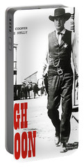High Noon, Gary Cooper Portable Battery Charger by Thomas Pollart