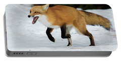 Portable Battery Charger featuring the photograph High Speed Fox by Mircea Costina Photography