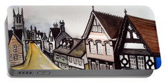 High Street Of Stamford In England Portable Battery Charger by Dora Hathazi Mendes