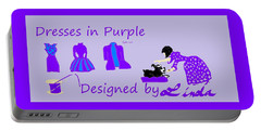 High Style Fashion, Dresses In Purple Portable Battery Charger