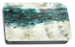 Portable Battery Charger featuring the painting High Tide by Carmen Guedez