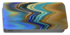 Portable Battery Charger featuring the digital art High Tide by Gina Harrison