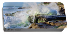 High Tide On The Rocks Portable Battery Charger