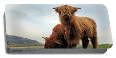 Highland Cow Calves Portable Battery Charger