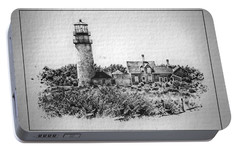 Portable Battery Charger featuring the photograph Highland Light by Suzanne Stout