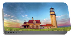 Portable Battery Charger featuring the painting Highland Lighthouse by Christopher Arndt