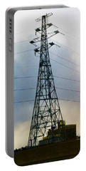 Highwires On A Wintry Sky Portable Battery Charger
