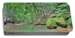 Hiking Trail At Cedar Falls In Hocking Hill Portable Battery Charger