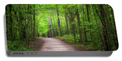 Portable Battery Charger featuring the photograph Hiking Trail In Green Forest by Elena Elisseeva