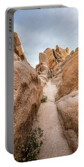 Hiking Trail In Joshua Tree National Park Portable Battery Charger by Joe Belanger