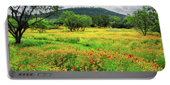 Hill Country Wildflowers Portable Battery Charger