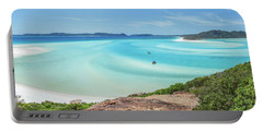 Portable Battery Charger featuring the photograph Hill Inlet Lookout by Az Jackson