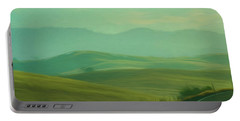 Hills In The Early Morning Light Digital Impressionist Art Portable Battery Charger