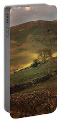 Hills Of Scotland At The Sunset Portable Battery Charger by Jaroslaw Blaminsky