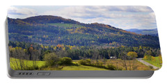 Portable Battery Charger featuring the photograph Hills Of Vermont by Corinne Rhode