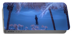 Portable Battery Charger featuring the photograph Hillsboro Inlet Lighthouse Infrared by Louis Ferreira