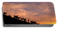 Portable Battery Charger featuring the photograph Hillside Elk by Darren White
