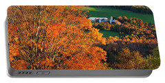 Hillside Farm In Fall Portable Battery Charger by Alan L Graham