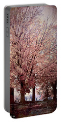 Portable Battery Charger featuring the digital art Hilltop Trees by Bonnie Willis