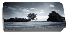 Hilly Black White Landscape Portable Battery Charger