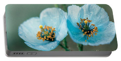 Himalayan Blue Poppy Portable Battery Charger