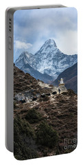 Portable Battery Charger featuring the photograph Himalayan Yak Train by Mike Reid