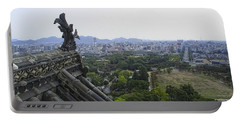 Himeji City From Shogun's Castle Portable Battery Charger